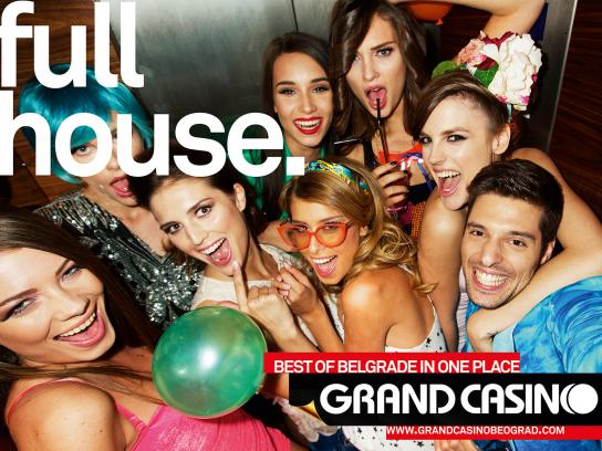 Grand Casino Beograd Print Ad -  Full house