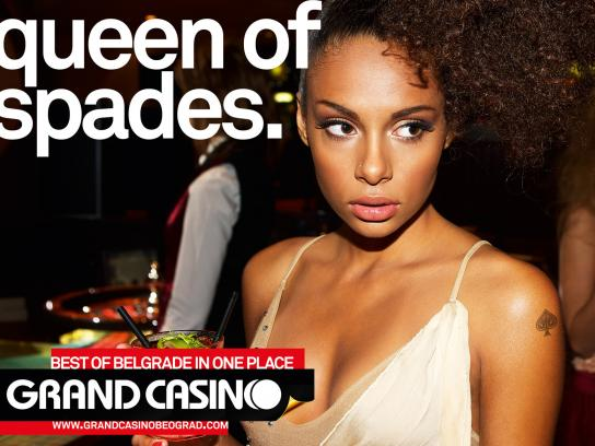 Grand Casino Beograd Print Ad -  Queen of spades