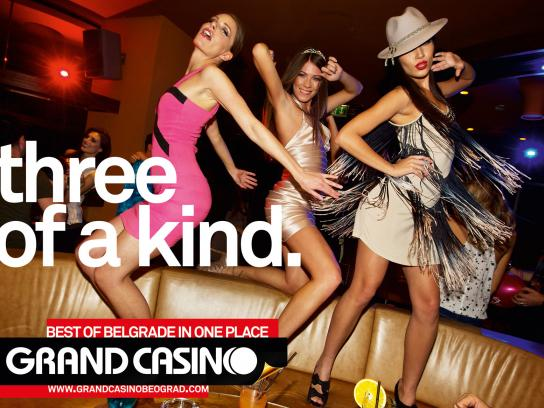 Grand Casino Beograd Print Ad -  Three of a kind