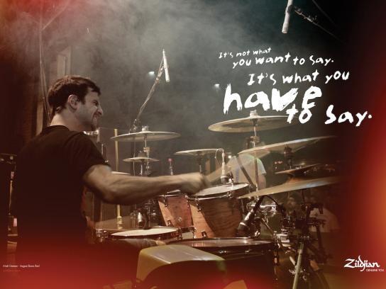 Zildjian Print Ad -  Cymbal