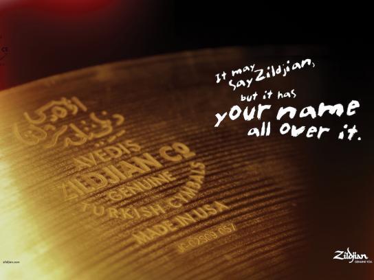 Zildjian Print Ad -  Name