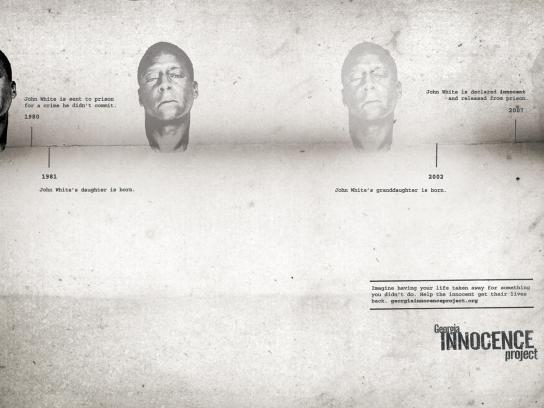 Georgia Innocence Project Print Ad -  John White