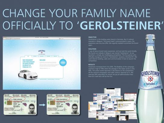 Gerolsteiner Ambient Ad -  Family name