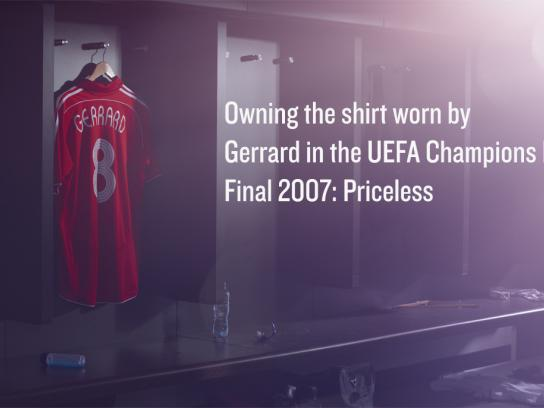 MasterCard Outdoor Ad -  Priceless, Gerrard's shirt