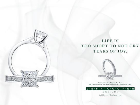 Jeff Cooper Designs Print Ad -  Tears of joy