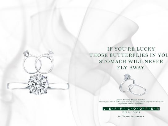 Jeff Cooper Designs Print Ad -  Butterflies