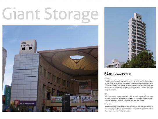BrandSTIK Outdoor Ad -  Giant Storage