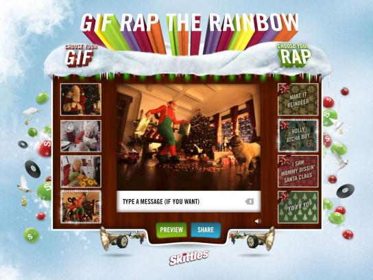 Skittles Digital Ad -  Gif Rap the Rainbow