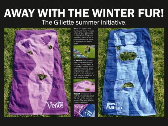 Gillette Ambient Ad -  Fur Fur Away Towels