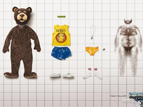 Gillette Print Ad -  Bear