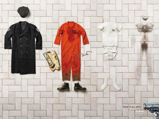 Gillette Print Ad -  Prisoner