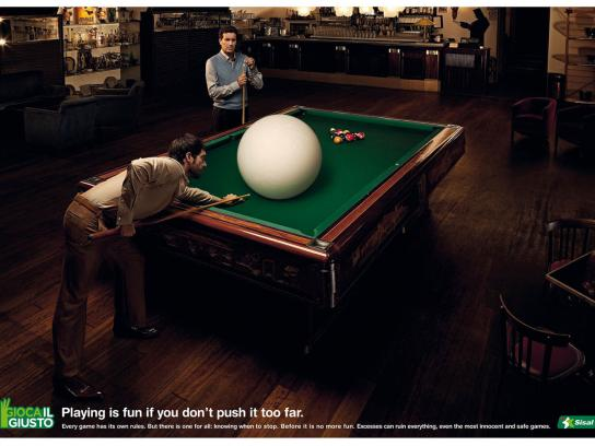Sisal Print Ad -  Billiard
