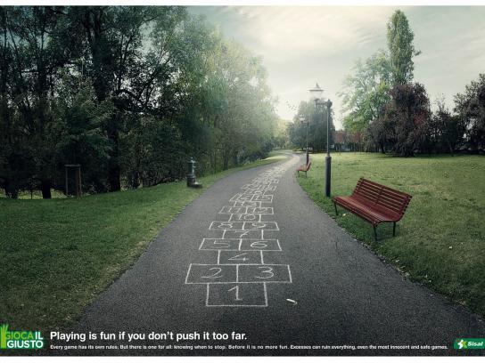 Sisal Print Ad -  Hopscotch