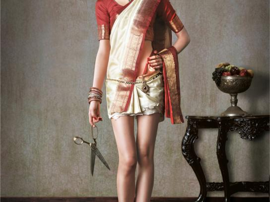 Morphy Richards Print Ad -  Girl in a saree