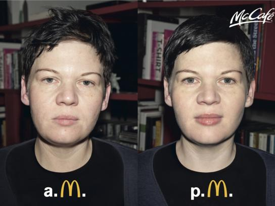 McDonald's Print Ad -  AM–PM, Girl 2