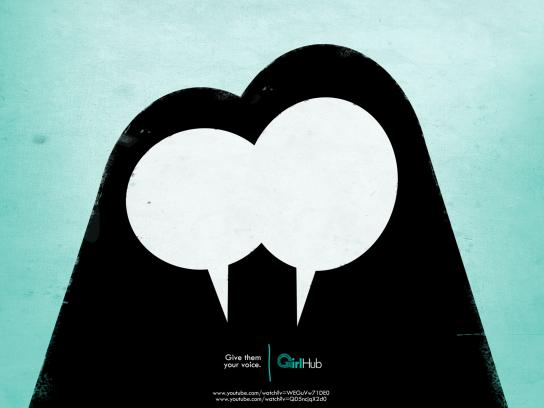 GirlHub Print Ad -  Aisha & Amina