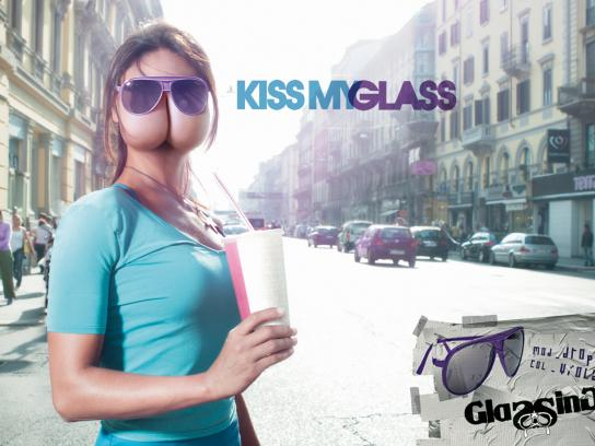 Glassing Print Ad -  Kiss my glass, 2