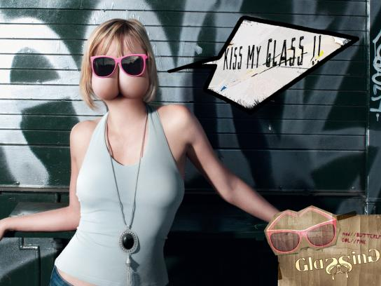 Glassing Print Ad -  Kiss my glass, 4