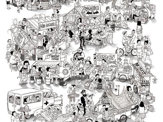 Get Lost in Indonesia Print Ad -  Cuisine