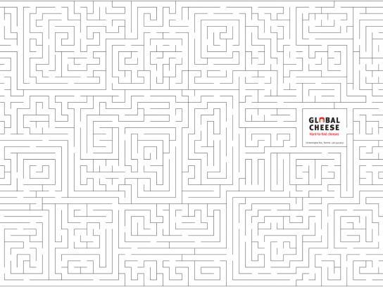 Global Cheese Print Ad -  Hard to find, 1