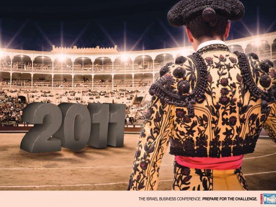 Globes Print Ad -  Bullfight