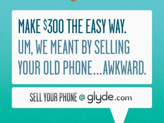 Glyde.com Print Ad -  Awkward