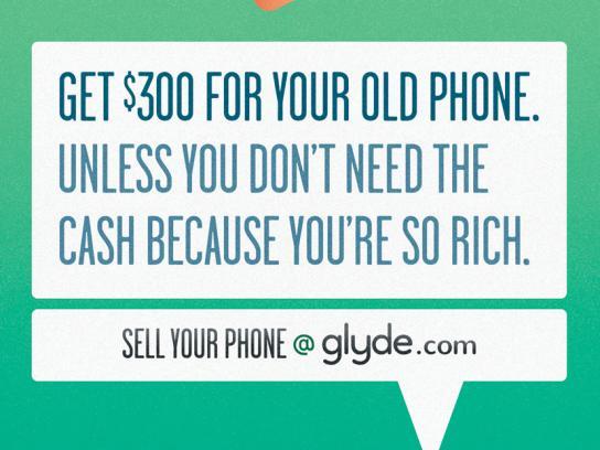 Glyde.com Print Ad -  Rich