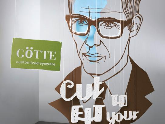 Goette Optician Print Ad -  Tie Guy