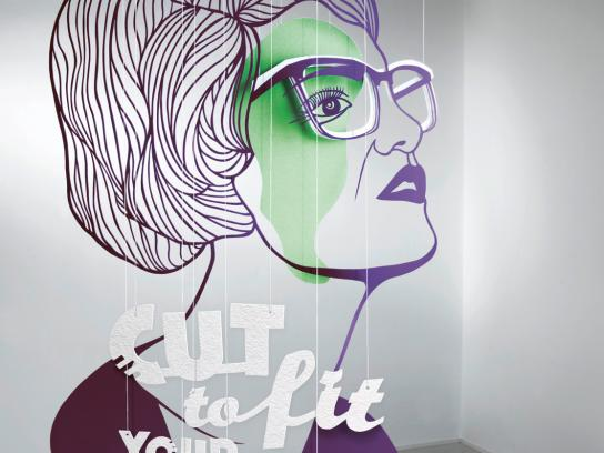 Goette Optician Print Ad -  Wavy Haired Woman