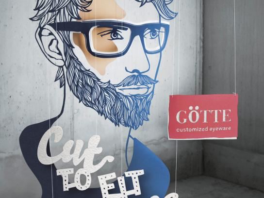 Goette Optician Print Ad -  Bearded Man