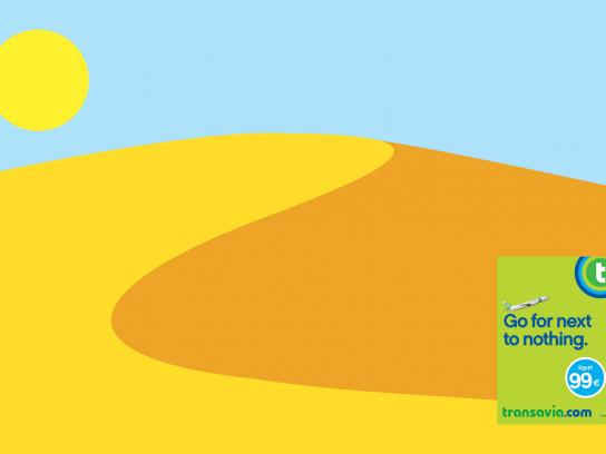 Transavia.com Print Ad -  Go for next to nothing, Desert