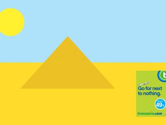 Transavia.com Print Ad -  Go for next to nothing, Pyramid