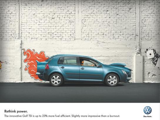 Volkswagen Print Ad -  Blue