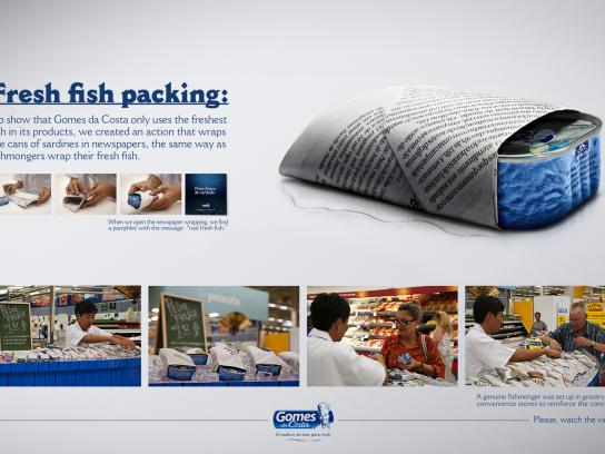 Gomes da Costa Ambient Ad -  Fresh Fish
