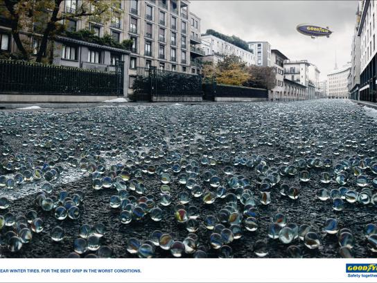 Goodyear Print Ad -  Marbles