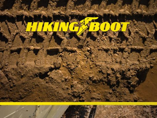 Goodyear Print Ad -  Hiking boot