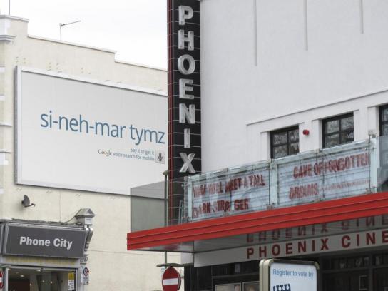 Google Outdoor Ad -  Cinema times