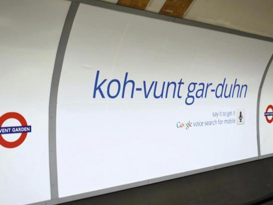Google Outdoor Ad -  Covent Garden