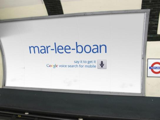 Google Outdoor Ad -  Marylebone