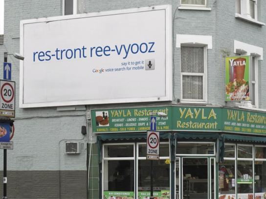 Google Outdoor Ad -  Restaurant reviews