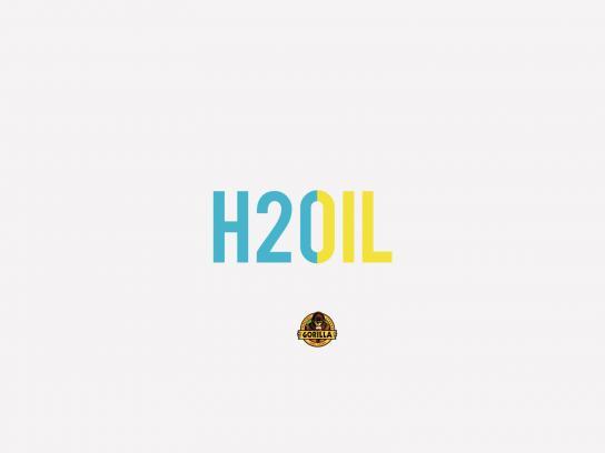 Gorilla Super Glue Print Ad -  H2O