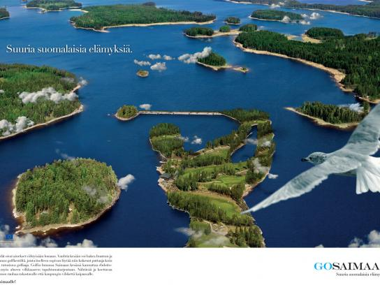 GoSaimaa.com Print Ad -  Great Finnish Experiences, 1