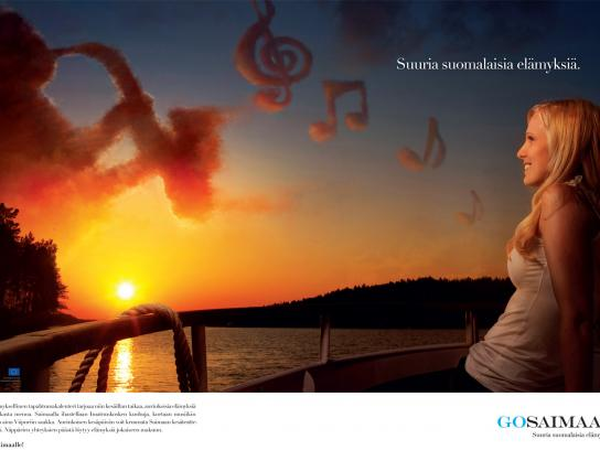 GoSaimaa.com Print Ad -  Great Finnish Experiences, 3