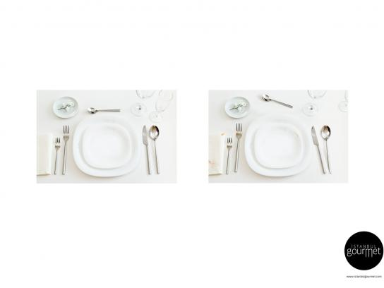 Istanbul Gourmet Print Ad -  Place setting