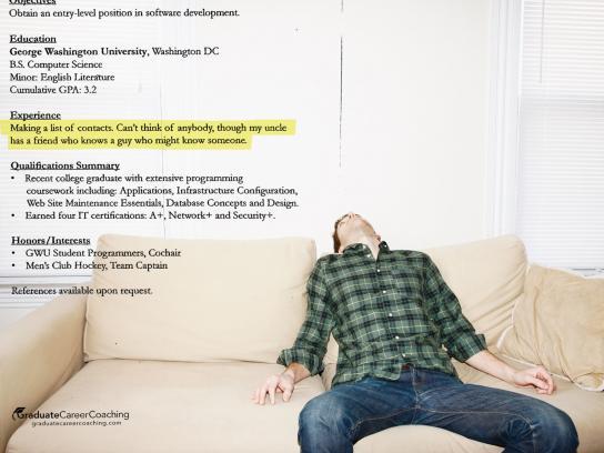 Graduate Career Coaching Print Ad -  Experience, 1