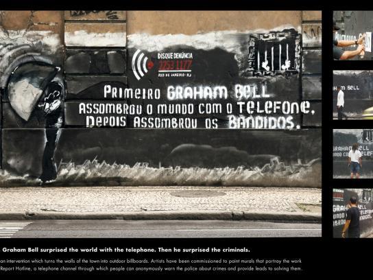 Disque-Denúncia Outdoor Ad -  Graham Bell