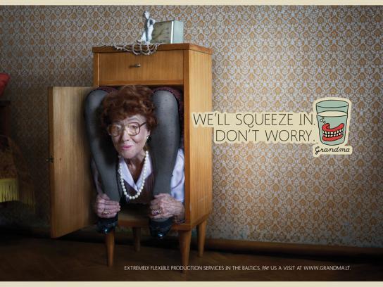 Grandma Print Ad -  Contortionist