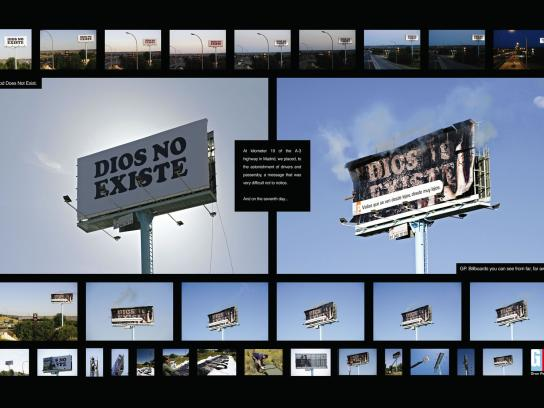 Gran Pantalla Outdoor Ad -  God does not exist