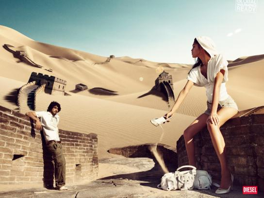 Diesel Print Ad -  Global Warming, Great Wall of China