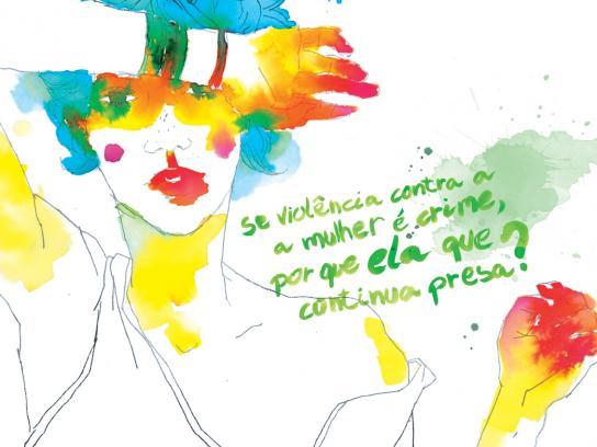 Diadema City Print Ad -  Violence against women, Green